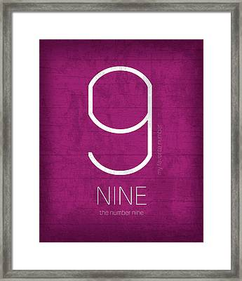 My Favorite Number Is Number 9 Series 009 Nine Graphic Art Framed Print by Design Turnpike