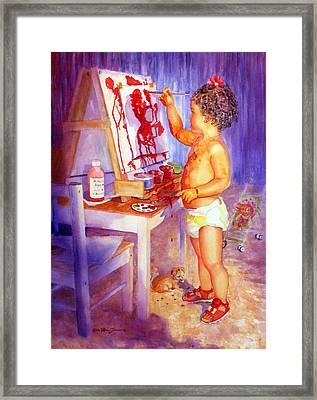 My Favorite Painter Framed Print by Estela Robles