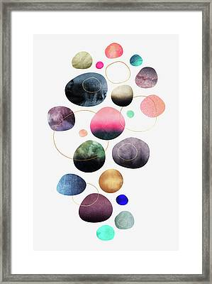 My Favorite Pebbles Framed Print by Elisabeth Fredriksson
