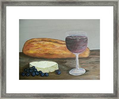 Framed Print featuring the painting My Favorite Things by Debbie Baker