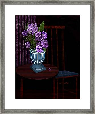 Framed Print featuring the painting My Favorite Things by Sena Wilson