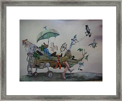 My Favorite Toy Framed Print by Carlos Rodriguez Yorde