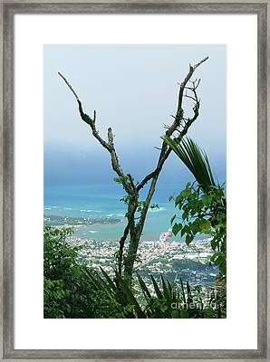 My Favorite Wishbone Between A Mountain And The Beach Framed Print