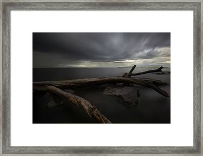 My Favourite Piece Of Driftwood, The Giant And A Thuderstorm Framed Print by Jakub Sisak