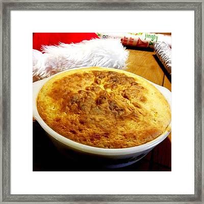 My First #cornpudding ..it Looks Framed Print