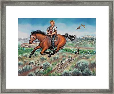 My First Horseback Ride Framed Print