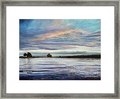 My First Sunset Framed Print by Elizabeth Robinette Tyndall