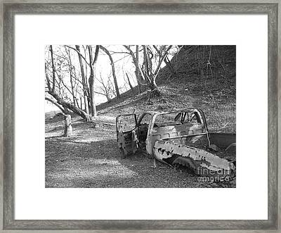 My First Truck Framed Print by Chad Natti
