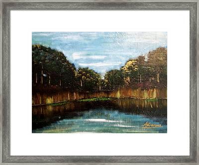 My Fishing Hole Framed Print