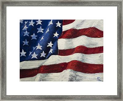My Flag Framed Print by Jodi Monahan