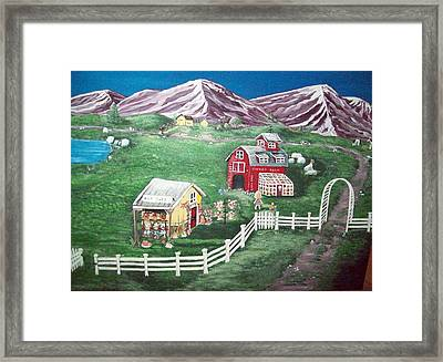 My Flower Farm Framed Print