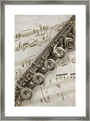 My Flute Photo Sketch Framed Print