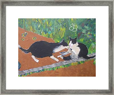 Framed Print featuring the painting My Foot Is Clean by AJ Brown