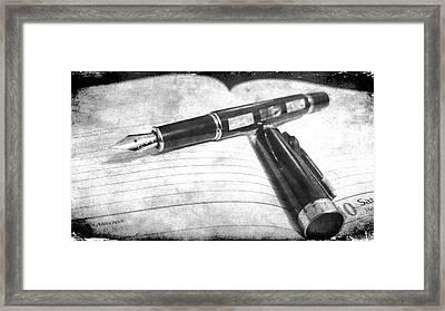 My Fountain Pen Framed Print