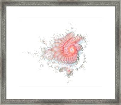 Framed Print featuring the digital art My Fractal Heart by Fran Riley