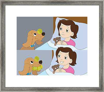 My Friend Digger The Dog Framed Print
