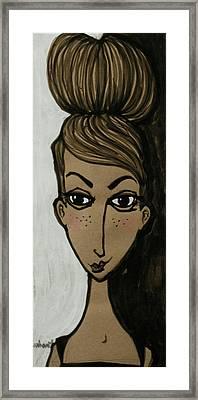my friend Ella Bella Framed Print by Jane Duhart