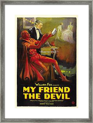 My Friend The Devil 1922 Framed Print by Mountain Dreams