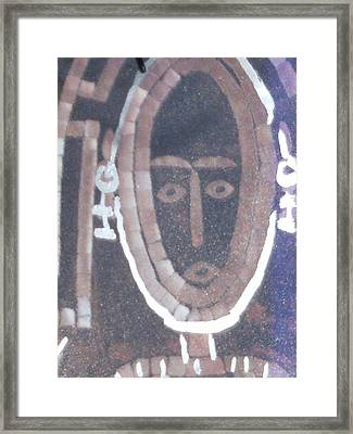 My Friend The Witch Doctor He Told Me What To Do Framed Print by Anne-Elizabeth Whiteway