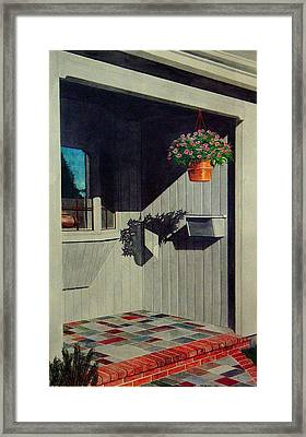 My Front Porch Framed Print by Ron Sylvia