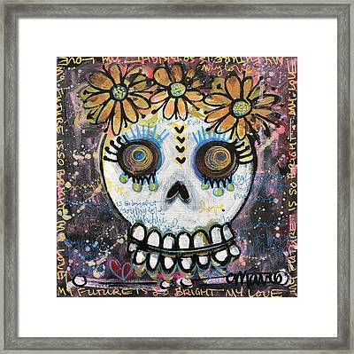 My Future Is So Bright With You Framed Print by Laurie Maves ART