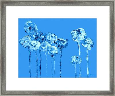 My Garden - Blue Framed Print