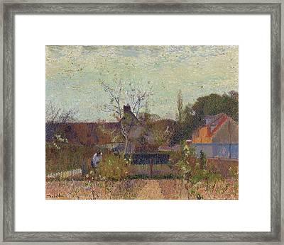 My Garden In Spring Framed Print by Joseph Delattre