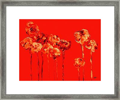 My Garden - Red Framed Print