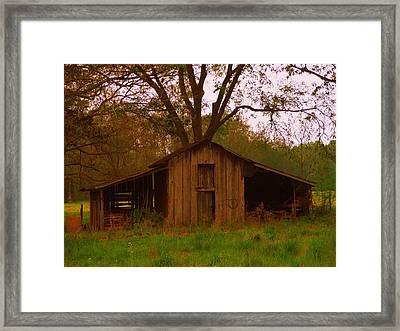 My Georgia Barn Framed Print by Judy  Waller