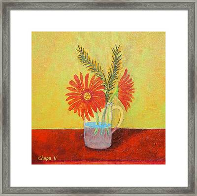 My Gerber Daisies Framed Print by Manny Chapa