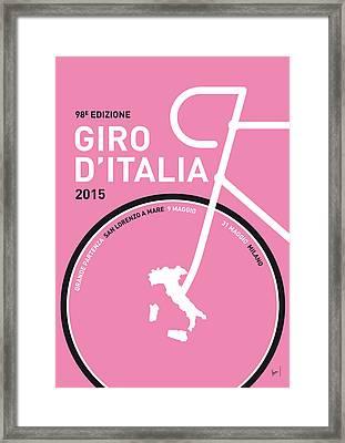 My Giro D'italia Minimal Poster 2015 Framed Print by Chungkong Art