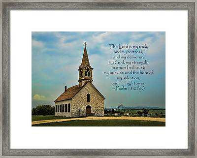 My God My Strength My Salvation Framed Print by Stephen Stookey