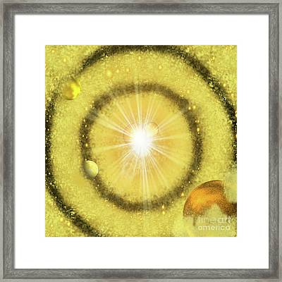 My Golden Universe Framed Print