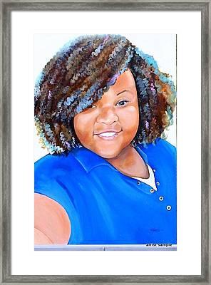 My Goodness  Selfie Framed Print