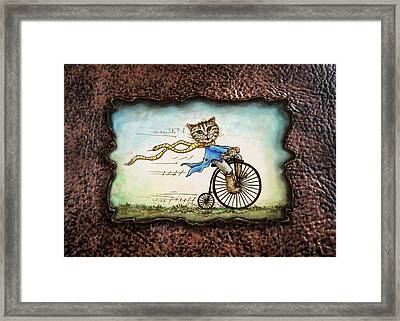 Living Flamboyantly Leather Border Framed Print