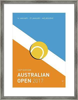 My Grand Slam 01 Australian Open 2017 Minimal Poster Framed Print by Chungkong Art