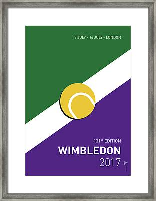 My Grand Slam 03 Wimbeldon Open 2017 Minimal Poster Framed Print