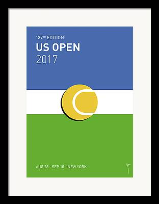 Us Open Digital Art Framed Prints