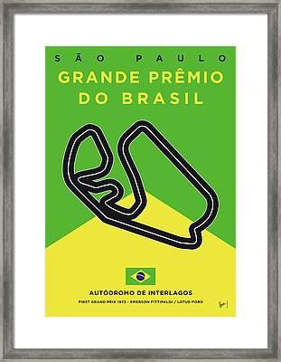 My Grande Premio Do Brasil Minimal Poster Framed Print