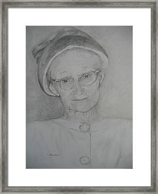 My Grandma Framed Print by Marlene Robbins