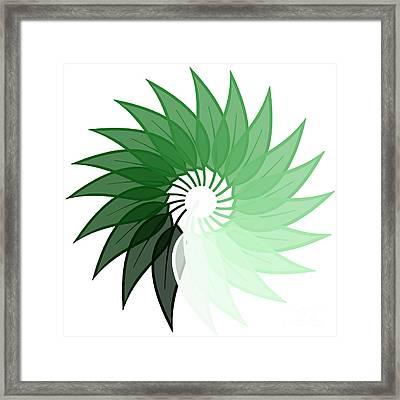 My Green Leaf Framed Print by Liesl Marelli