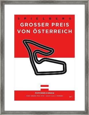 My Grosser Preis Von Osterreich Minimal Poster Framed Print