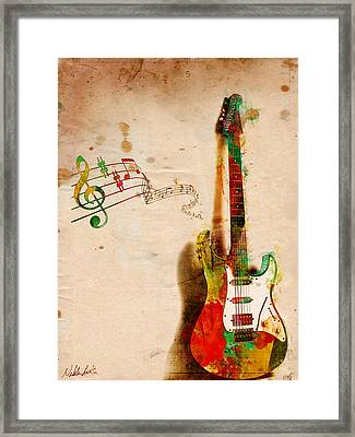 My Guitar Can Sing Framed Print by Nikki Smith