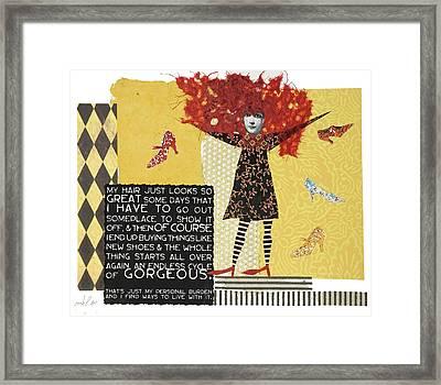 My Hair Framed Print by Kay Foley