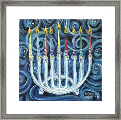 My Hanukkiah Framed Print by Cheryl Rose