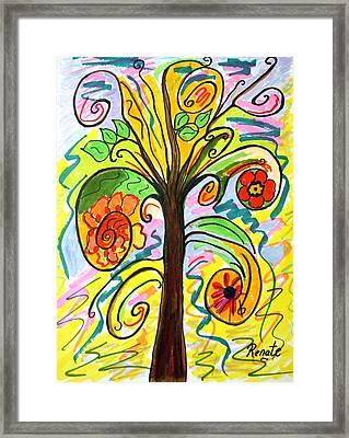 My Happiness Tree.... Framed Print