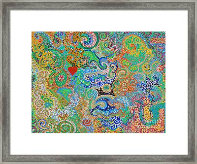 My Happy Place Framed Print by Rebecca Fulweiler
