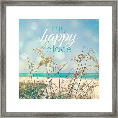 My Happy Place Framed Print