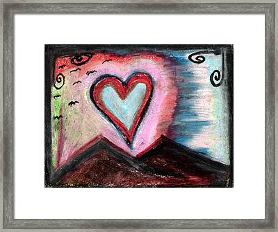My Heart As The Sun Framed Print by Levi Glassrock
