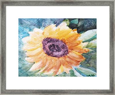 My Heart Is A 'son' Flower Framed Print by Trilby Cole